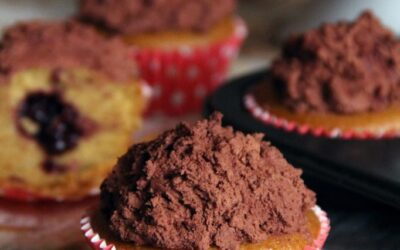 Cupcakes liquirizia, cioccolato e ciliegia