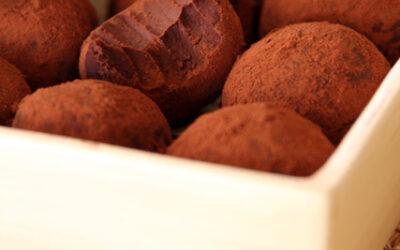 Tartufini Tahin e cioccolato