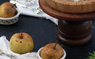 Crostata con crema di mandorle e pere