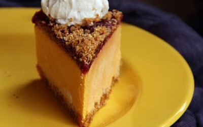 Raw pumpkin cake