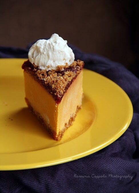 Raw pumpkin cake