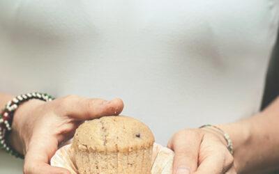 Muffin gocce di cioccolato e arancia