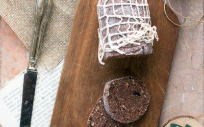Salame di cioccolato crudista